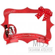 <strong>Miss</strong> 100x70 cm Büyük Boy Kına Hatıra Çerçevesi