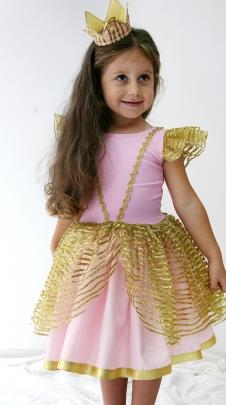 Just Baby & Kids 01-110E Prenses Kostüm Pembe Gold