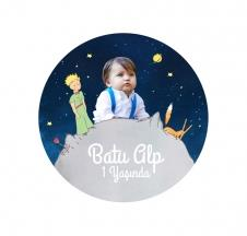 Miss The Little Prince Yuvarlak Etiket 7.5 cm 10 Adet