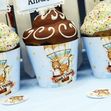 Partiavm Cute Hot Air Balloons Cupcake Sargısı 10 Adet