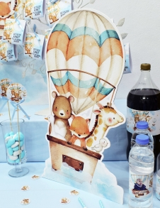Partiavm Cute Hot Air Balloons 50 cm Dekor Pano