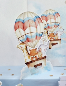 Partiavm Cute Hot Air Balloons 45 cm Dekor Pano