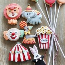 Happy Cookie Day HCDA029B Sirk Kurabiye Seti Standart Boy 12 li Paket Fiyat