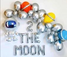 SAMM Astronot Balon Zinciri Full Set Uzay Balon Zinciri (2 the moon)