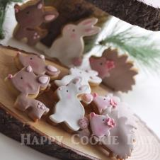 Happy Cookie Day HCDA008A Woodland Kurabiye Standart Boy ( 3 Çeşit ) Adet Fiyat