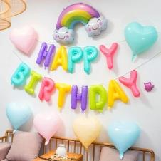 SAMM Karışık Pastel Happy Birthday Balon Set