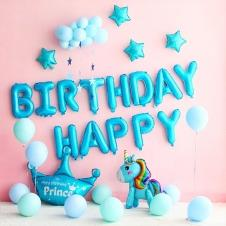 SAMM Mavi Pastel Tonları Happy Birthday Set
